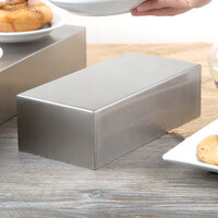 Tablecraft SS4026 2.5 Qt. 18-8 Stainless Steel Straight Sided Rectangular Bowl - 10 inch x 5 inch x 3 inch