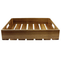 Tablecraft CRATE116 Gastronorm Acacia Wood Serving and Display Crate 21 inch x 13 inch x 6 1/4 inch