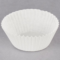 Hoffmaster 610032 2 inch x 1 1/4 inch White Fluted Baking Cup - 500/Pack