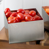Tablecraft SS4024 1.25 Qt. 18-8 Stainless Steel Straight Sided Square Bowl - 5 inch x 5 inch x 3 inch