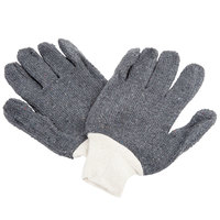Men's Loop-Out Gray 24-Ounce Polyester / Cotton Work Gloves - Large - Pair - 12/Pack