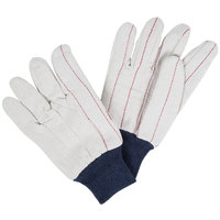 Blue Nap-In Cotton Double Palm Work Gloves - Large - Pair - 12/Pack