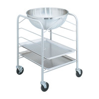 Vollrath 79002 Stainless Steel Mobile Mixing Bowl Stand with Tray Slides for 30 Qt. Bowl