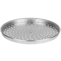 American Metalcraft HA4018P 18 inch x 1 inch Perforated Heavy Weight Aluminum Straight Sided Pizza Pan