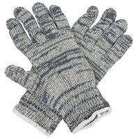 Medium Weight Multi-Color Polyester / Cotton Work Gloves - Medium - Pair - 12/Pack