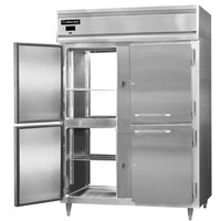 Continental DL2RE-SS-PT-HD 57 inch Extra-Wide Solid Half Door Pass-Through Refrigerator