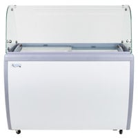 Avantco ADC-8C-HC Curved Glass Ice Cream Dipping Cabinet - 49 inch