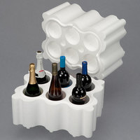 Polar Tech Safeway 6 Bottle White Top Load Insulated Foam Wine / Champagne Shipper