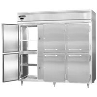 Continental DL3RE-SA-PT-HD 86 inch Extra-Wide Solid Half Door Pass-Through Refrigerator