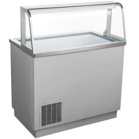 Avantco CPSS-47-HC 47 1/8 inch 8 Tub Stainless Steel Deluxe Ice Cream Dipping Cabinet