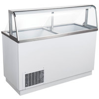 Avantco CPW-68-HC 67 3/4 inch 12 Tub White Deluxe Ice Cream Dipping Cabinet