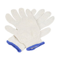 Economy Weight Natural Polyester / Cotton Work Gloves - Medium - Pair - 12/Pack