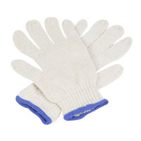 Medium Weight Natural Polyester / Cotton Work Gloves - Large - Pair - 12/Pack