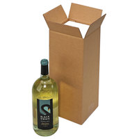 Polar Tech Safeway 1 Bottle Wine / Champagne Shipper Box - 5 13/16 inch x 5 3/8 inch x 15 15/16 inch