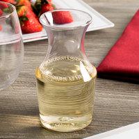WNA Comet RESCF1264 Reserv 12 oz. Clear Plastic Disposable Wine Carafe - 64/Case