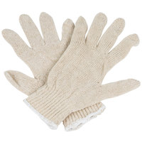 Lightweight Natural Polyester / Cotton Work Gloves - Large - Pair - 12/Pack
