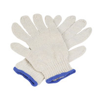 Standard Weight Natural Polyester / Cotton Work Gloves - Medium - Pair - 12/Pack
