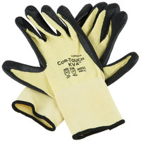 Cor-Touch KV4 Aramid / Lycra Cut Resistant Gloves with Black Sandy Nitrile Palm Coating - Extra Large - Pair