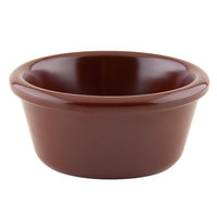 GET S-660-BR 6 oz. Smooth Chocolate Melamine Ramekin - 48/Case