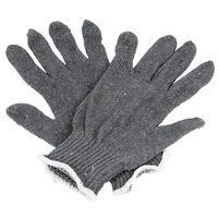 Economy Weight Gray Polyester / Cotton Work Gloves - Large - Pair - 12/Pack
