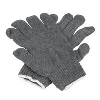 Heavy Weight Gray Polyester / Cotton Work Gloves - Large - Pair - 12/Pack