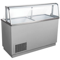 Avantco CPSS-68-HC 67 3/4 inch 12 Tub Stainless Steel Deluxe Ice Cream Dipping Cabinet