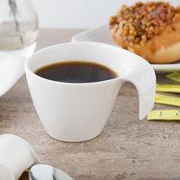 Villeroy & Boch 10-3420-1300 Flow 6.66 oz. White Premium Porcelain Cup - 6/Case