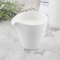 Villeroy & Boch 10-3420-0780 Flow 6.66 oz. White Premium Porcelain Creamer - 6/Case