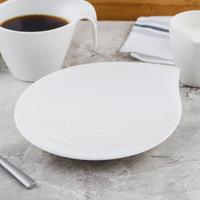 Villeroy & Boch 10-3420-1250 Flow 8 1/4 inch x 7 inch White Premium Porcelain Saucer - 6/Case