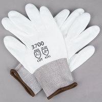 White HPPE Gloves with White Polyurethane Palm Coating - Extra Large - Pair