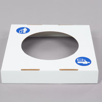 Lavex Janitorial White Corrugated Cardboard Trash and Recycling Container Waste Lid - 10/Bundle