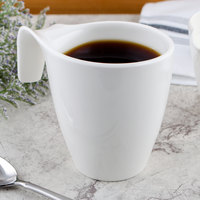Villeroy & Boch 10-3420-9651 Flow 11.5 oz. White Premium Porcelain Mug - 6/Case
