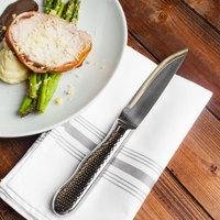 Walco 880527IR Ironstone 5 1/5 inch Customizable Stainless Steel Steak Knife with Jumbo Handle   - 12/Pack
