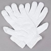 Standard Weight White Polyester / Cotton Work Gloves - Medium - Pair - 12/Pack