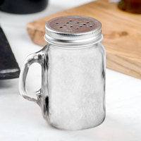 Core 4.75 oz. Mini Mason Jar Salt and Pepper Shaker with Handle and Lid   - 12/Case