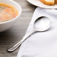 Walco 9412 Lancer 6 inch 18/10 Stainless Steel Extra Heavy Weight Bouillon Spoon - 24/Case