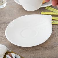 Villeroy & Boch 10-3420-1310 Flow 7 inch x 6 inch White Premium Porcelain Saucer - 6/Case