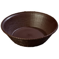 Carlisle 652401 WeaveWear Brown Round Plastic Serving Basket 9 inch - 12/Case
