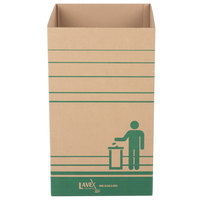 Lavex Janitorial 40 Gallon Kraft Corrugated Cardboard Trash and Recycling Container - 10/Bundle