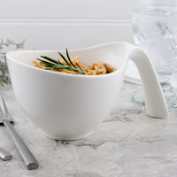 Villeroy & Boch 10-3420-4880 Flow 15.25 oz. White Premium Porcelain Handled Bowl - 6/Case