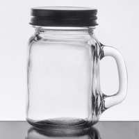 Core 4.75 oz. Mini Mason Jar with Handle and Solid Lid - 12/Case