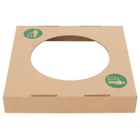 Lavex Janitorial Kraft Corrugated Cardboard Trash and Recycling Container Waste Lid - 10/Bundle