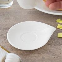 Villeroy & Boch 10-3420-1430 Flow 5 1/2 inch x 4 3/4 inch White Premium Porcelain Saucer - 6/Case