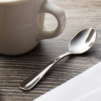 Walco 9429 Lancer 4 3/8 inch 18/10 Stainless Steel Extra Heavy Weight Demitasse Spoon - 24/Case