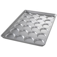 Chicago Metallic 42495 24 Mold Glazed Individual ePAN Hamburger Bun / Muffin Top / Cookie Pan