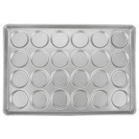 Chicago Metallic 42495 24 Mold Glazed Customizable Individual ePAN Hamburger Bun / Muffin Top / Cookie Pan