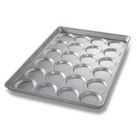 Chicago Metallic 42495 24 Mold Glazed Individual ePAN Hamburger Bun / Muffin Top / Cookie Pan