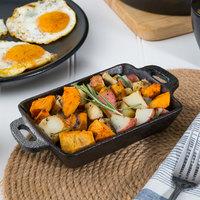Valor 10 oz. Pre-Seasoned Mini Cast Iron Rectangular Casserole Dish