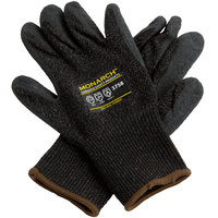 Monarch Black Engineered Fiber Cut Resistant Gloves with Black Latex Palm Coating - Extra Large - Pair