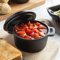 Valor 4 inch Pre-Seasoned Cast Iron Round Mini Pot